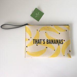 "Kate Spade ""That's Bananas"" Large Wristlet/Clutch"